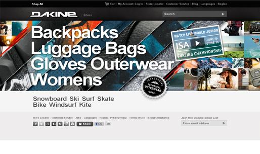 Dakine-Responsive-website-design-inspiration