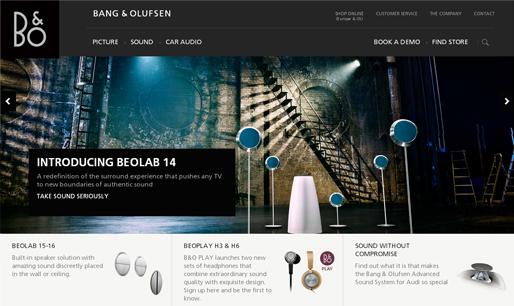 Responsive-website-design-inspiration-Bang & Olufsen
