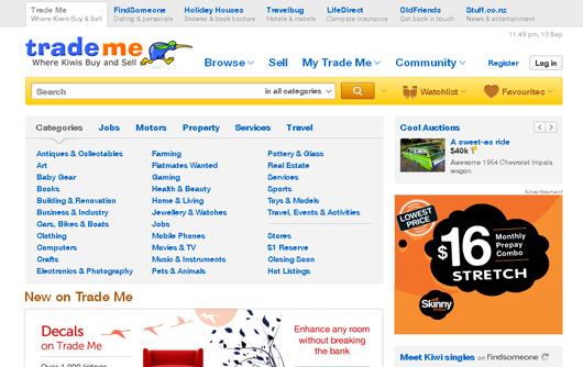 Inspiring ecommerce website design