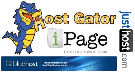 Different websites of Web hosting