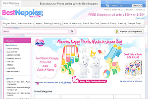 Best Nappies – Ecommerce website