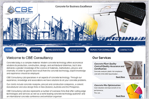 CBE Contruction – Inspiring ecommerce Corporate website design