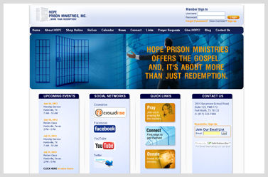 Hope Prison Ministries- Nice ecommerce website sample