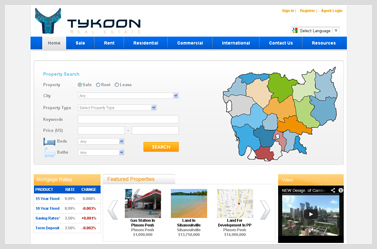 Tykoon- Website for properties