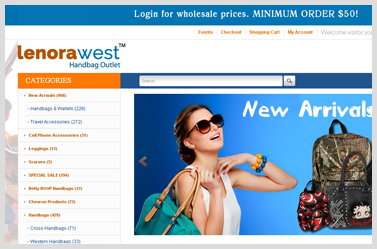 lenorawest- Eye-catching Open Cart Website